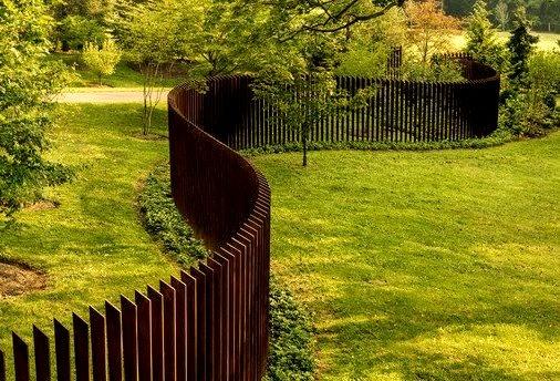 Cor Ten Cattails Sculptural Fence